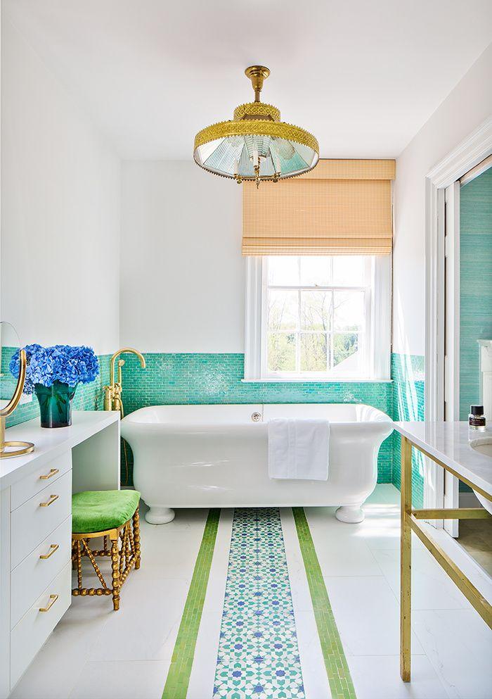 Les 25 meilleures id es concernant salle de bain turquoise for Salle de bain mauve et blanc