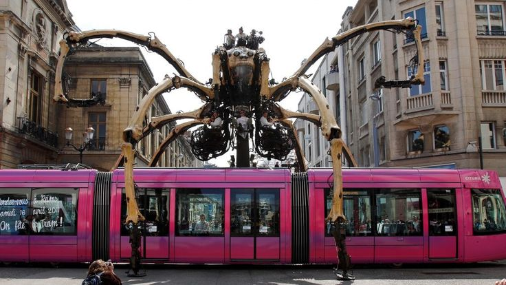 How cool does this look? Giant machines have started to roam through downtown Ottawa! Will you be heading downtown to see this?