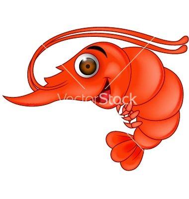 Funny shrimp cartoon vector 1217279 - by tigatelu on VectorStock®