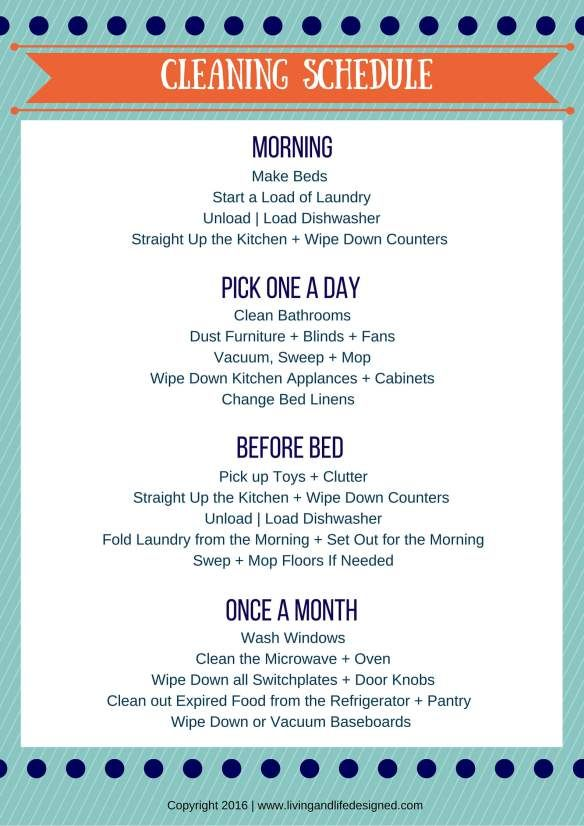 Create a Cleaning Schedule That Takes 15-20 Minutes Each Day