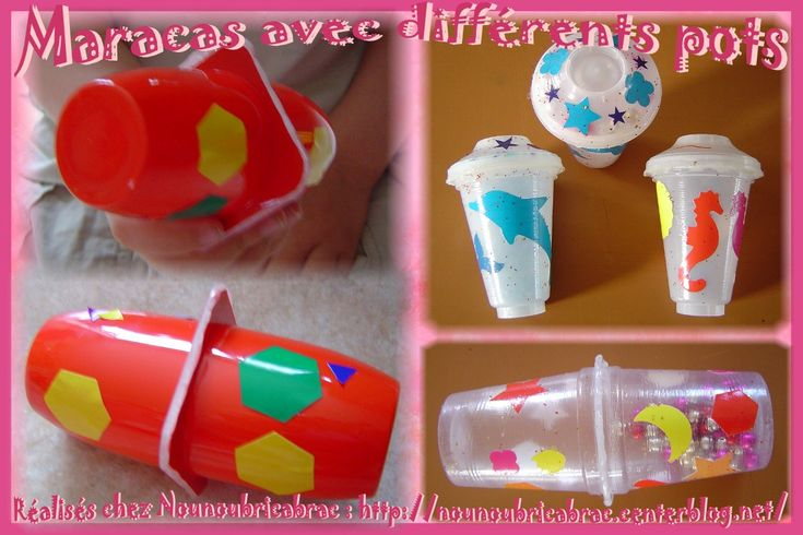 Maracas *4* fabriquées avec d'autres pots...