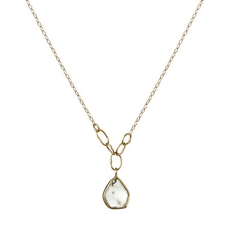 Raw Sapphire Pendant (my birth stone!)