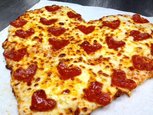 Really though. Nothing says love like a heart shaped pizza.