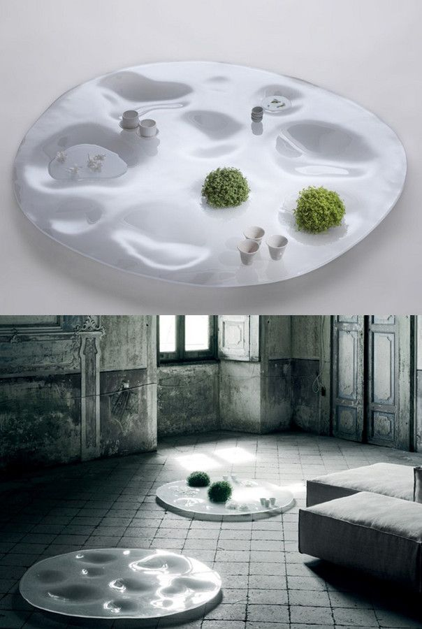 Low glass coffee table garden plate by living divani design junya ishigami livingdivani