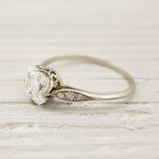 1.01 Carat Asscher Cut Diamond Engagement Ring by Tiffany and Co | New York Vintage....ABSOLUTELY FRIGGIN PERFECT I NEED THIS OMGOSH!!