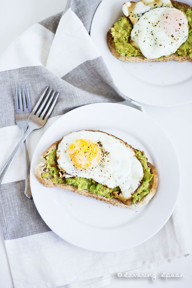 Eggs on Avocado toast, YUM! Full of protein, ZERO sugar, better than sugary cereals! – I Quit Sugar