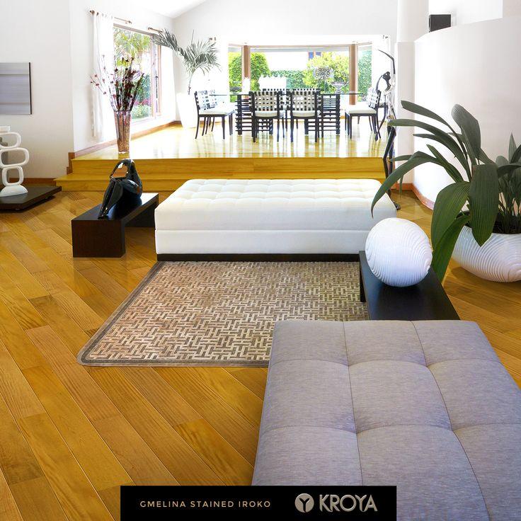 KROYA Gmelina Stained Iroko Single Plank  http://www.kroyafloors.com/collections/single-plank/gmelina-stained-iroko/