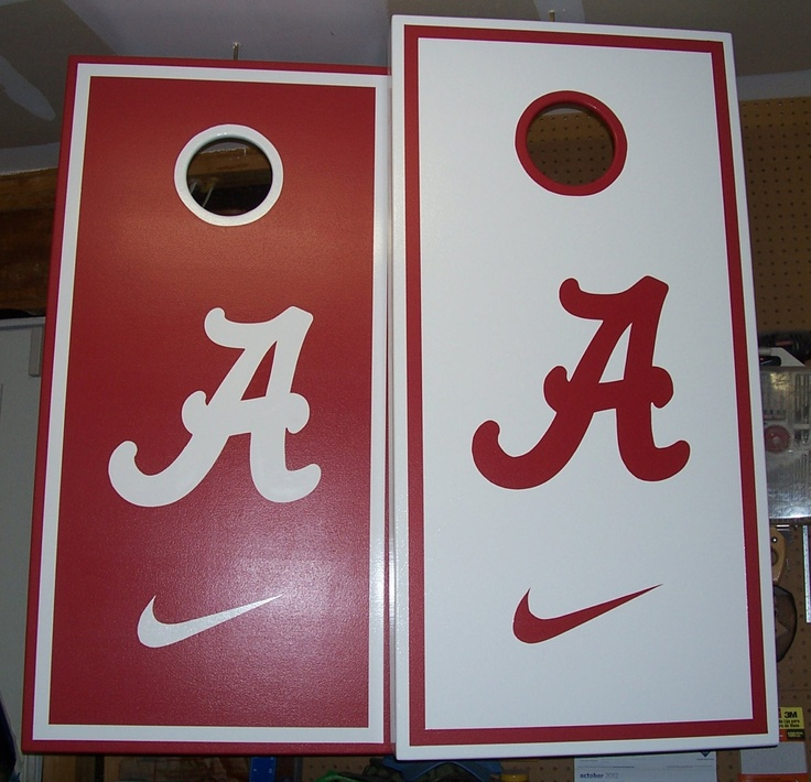 Hand Painted Alabama Cornhole Boards by mkhew2 on Etsy