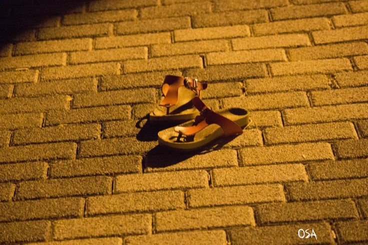 Shoes on the road