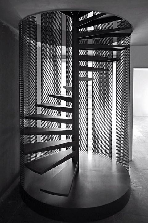 Escalera de caracol-Metalic