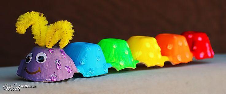 Egg Carton Caterpillar by LunaStone
