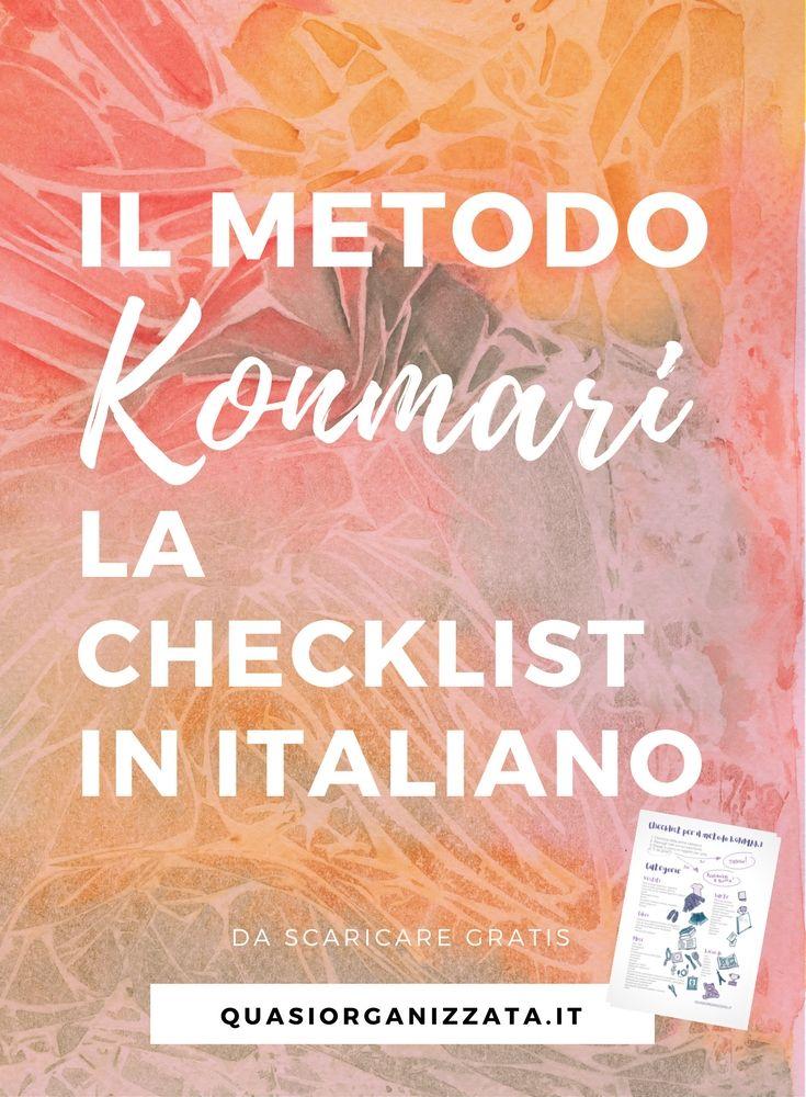metodo konmari checklist | organizzazione armadio | declutter | minimalismo | butto tutto