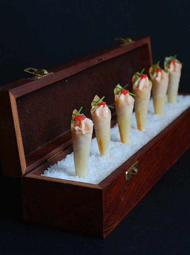Cucuruchos de salmón {receta Navidad}