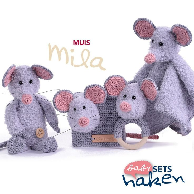 Patroon uit babysets haken - Muis Mila