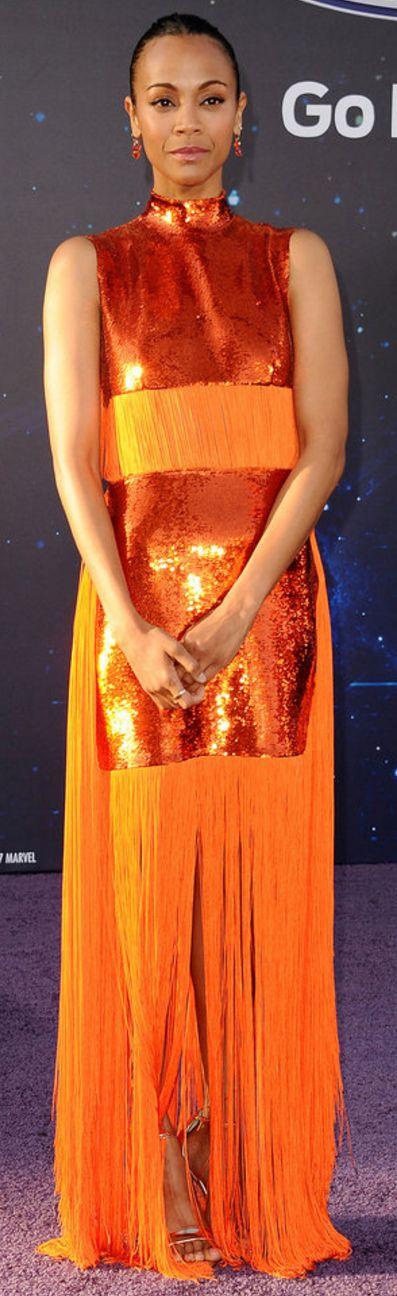 Zoe Saldana' in Dress – Pucci  Jewelry – Irene Neuwirth and Established Jewelry