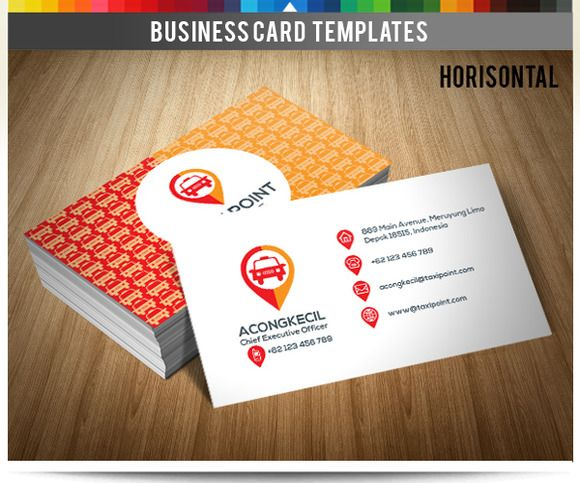 Premium Business Card - Taxi Point by Acongraphic on @creativemarket