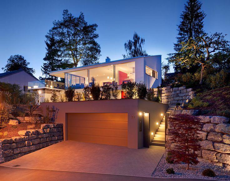 213 best Haus am Hang images on Pinterest Architecture, House - haus ausenfarbe grau