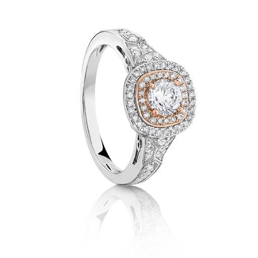 18ct2 Tone Diamond Dress Ring