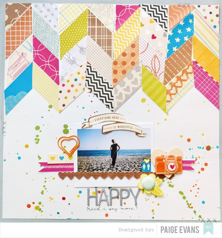 The One with the American Crafts NSD 2015 Blog Hop! - scrapbook layout