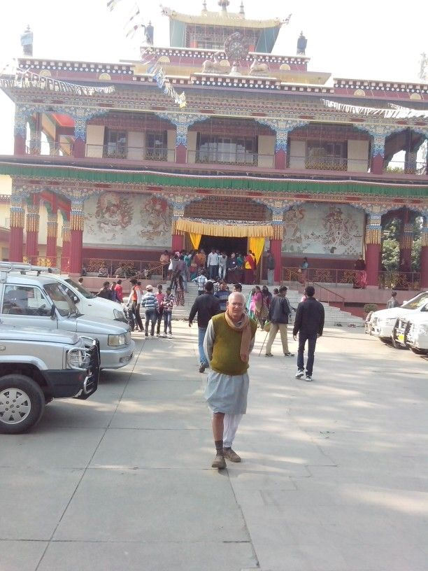Tibetian temple at bodhgaya