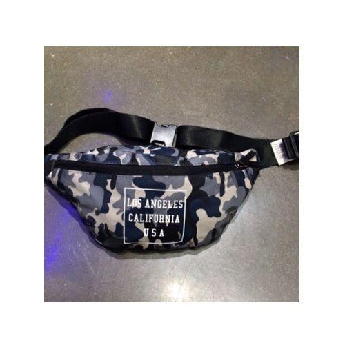 Korea Waist Fanny Pack Cross Shoulder LA Gray Camo Hip sack Hipsack Bag PVC Tote
