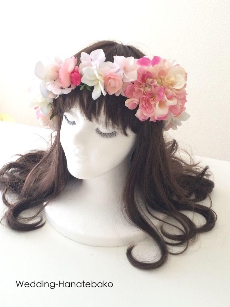 ハワイ挙式のための花冠。  会場 セントアンドリュース大聖堂  ウェディング花手箱