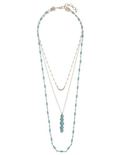 Gold & Turquoise Necklace | Lucky Brand