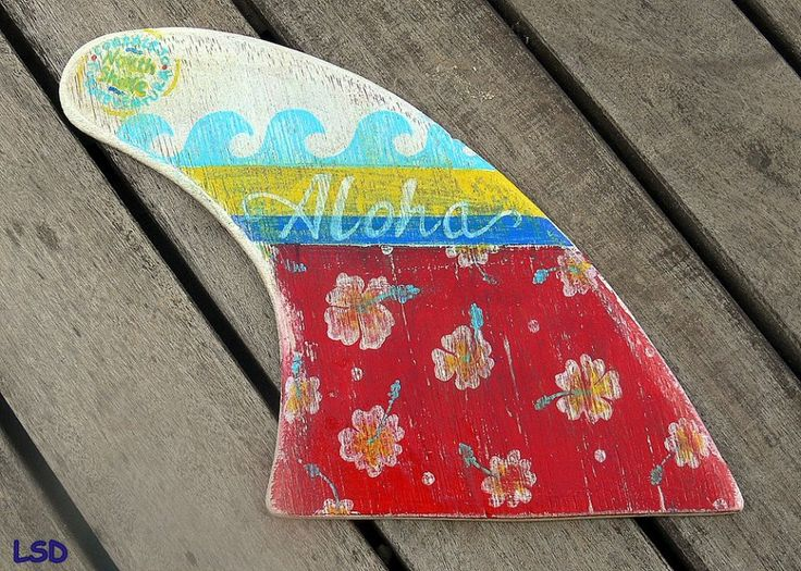 VINTAGE HAWAIIAN FIN - Handmade wooden regular fin