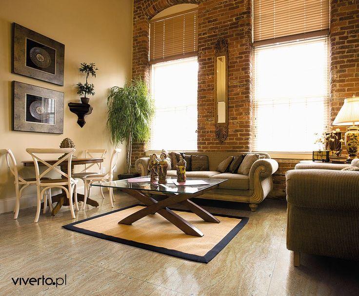Każdy, kto kocha beże, jasne barwy i stonowany wystrój przywołujący spokój oraz harmonię, ten na pewno pokocha płytki podłogowe Sand firmy Ceramstic! Idealne do salonu, kuchni czy przedpokoju. Wspaniale łączą się z naturalnym drewnem i cegłą.    #viverto #płytki #tiles #podłoga #floor #room #pokój #salon #kuchnia #łazienka #