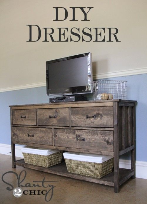 This woman MADE all the furniture in her son's bedroom and it's GORGEOUS. She has the DIY info here with lots of pictures.
