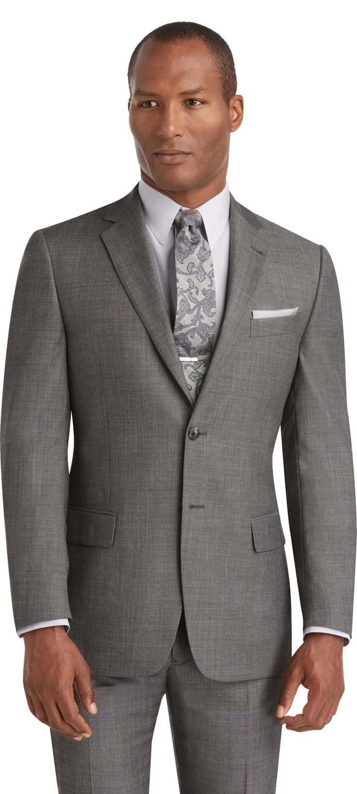Reserve 2 Button Tailored Fit Suit Separate Jacket Big and Tall
