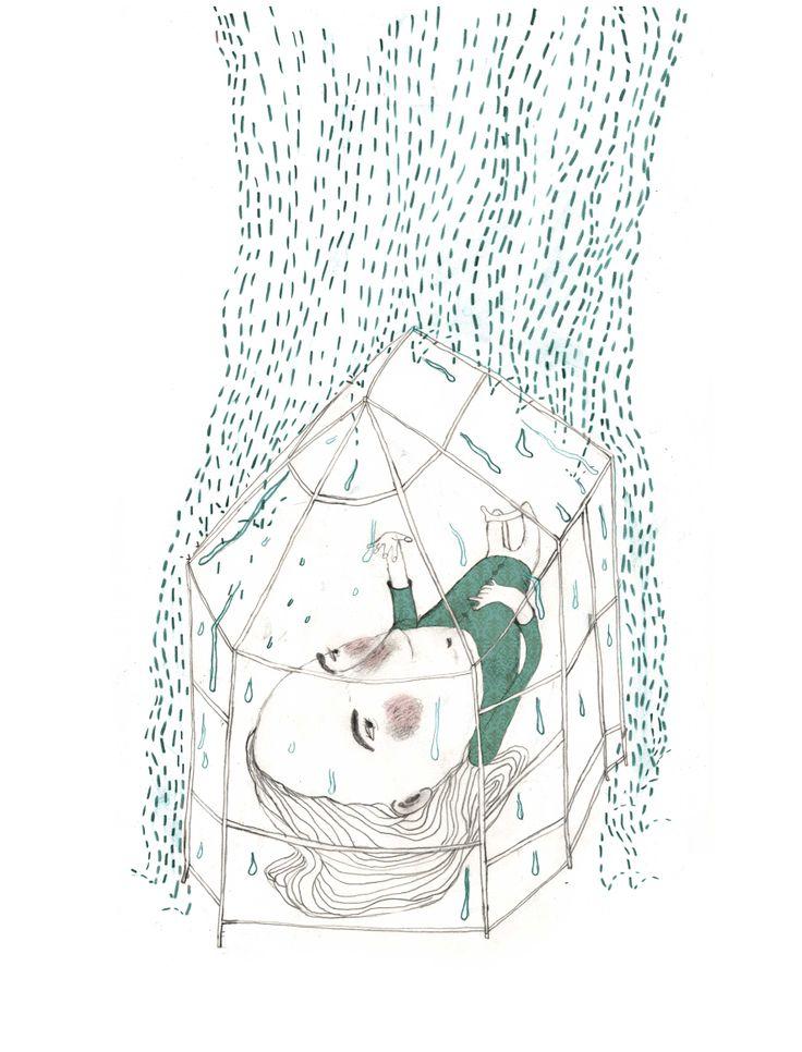 Februar - illustration