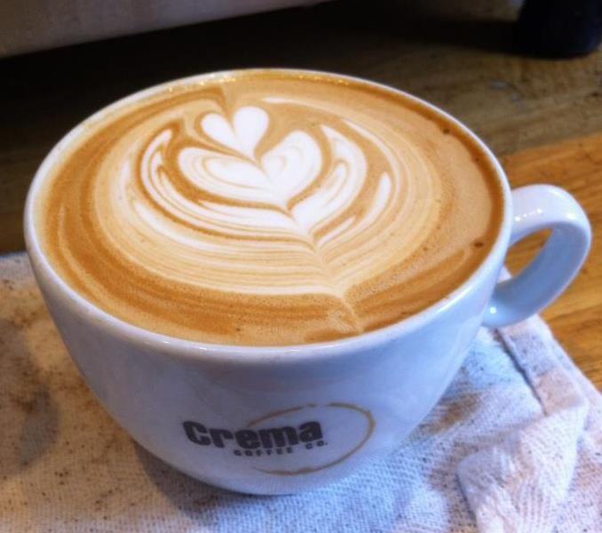 my latte art at work