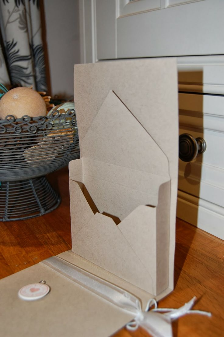 Interesting card holder made with the Envelope Punch Board. All supplies from Stampin' Up!