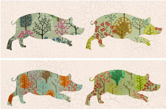 Lovely new identity work by UK designers Dinnick and Howell for Primrose Hill pub The Hampshire Hog. Beautifully executed from logo right through to signage, print, packaging and web. Well worth checking their website out too for even more tasty work!
