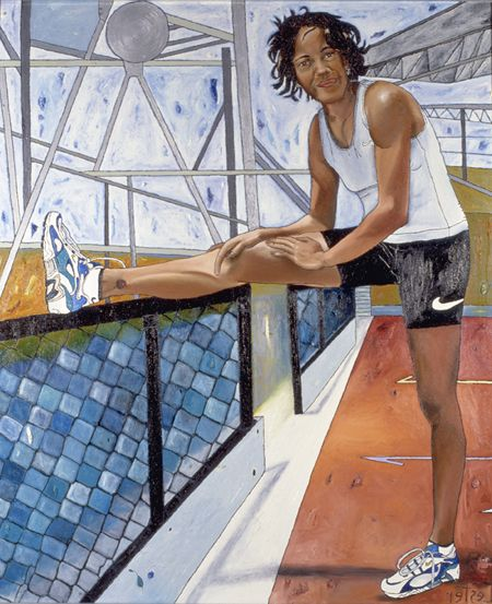Title	Cathy Freeman Creator	Kerrie Lester Birth Date: 1953 Date Created	 1999