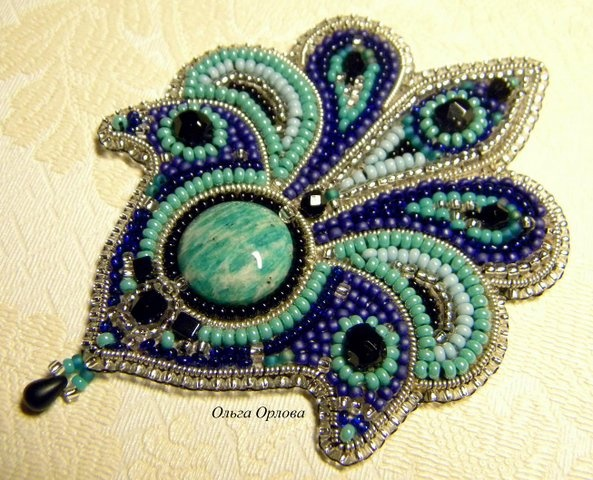 Bead Embroidered Fleur De Lis