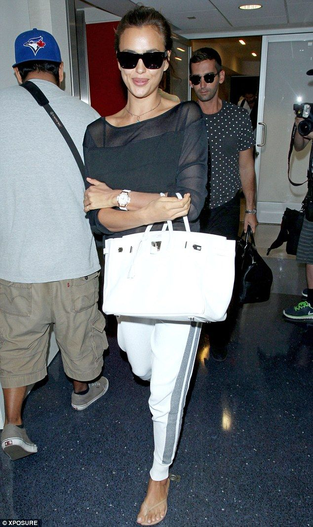 Irina Shayk leaves red carpet glamour behind in a chic but casual look