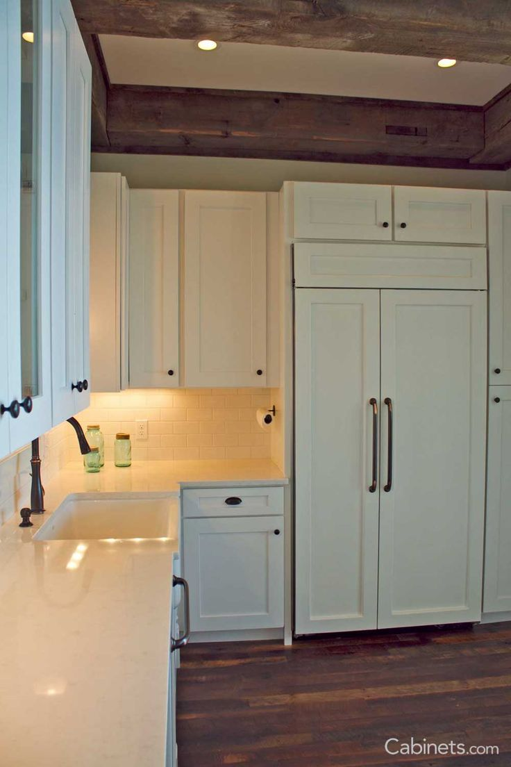 Installing kitchen cabinets and countertops with tom law - Shaker Ii Maple Bright White