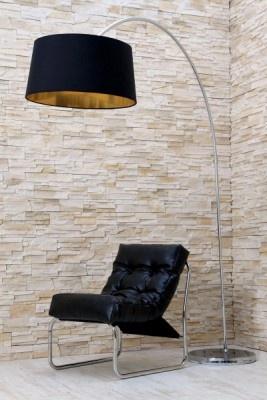Design Stehleuchte FORMA schwarz gold Bogenlampe Design Stehleuchte FORMA schwarz gold Bogenlampe, 140 Euro