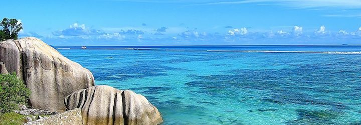 amazing and tropical beach in the seychelles