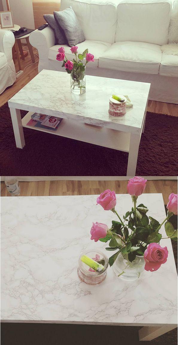 INTERIOR / DIY / WOHNEN: Marmor Tisch mit Klebefol…