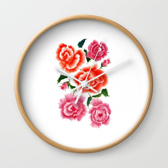Roses bouquet WC Wall Clock