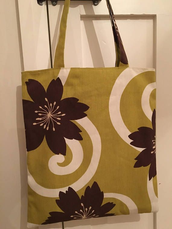 Retro floral bag, funky bag,  market bag, shopper bag, statement bag, trendy fabric bag, modern fabric, bold print, gift for her, book bag