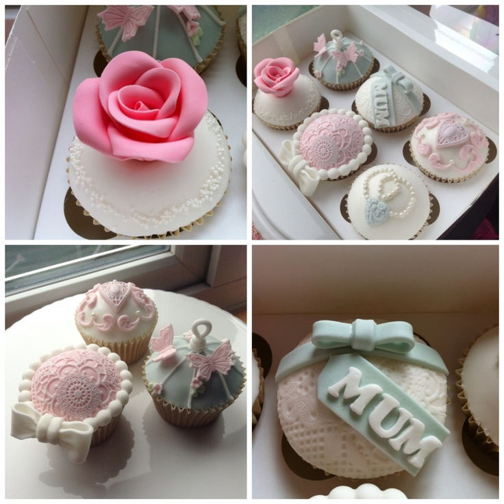 Mother's Day cupcakes in a vintage design £15