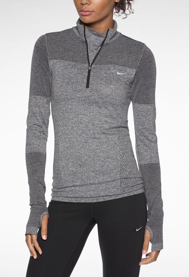 Someday - I will run enough to warrant a shirt that costs this much. Perfect layering piece for a fall run: Nike DRI-Fit Knit Long-Sleeve Half-Zip Shirt.