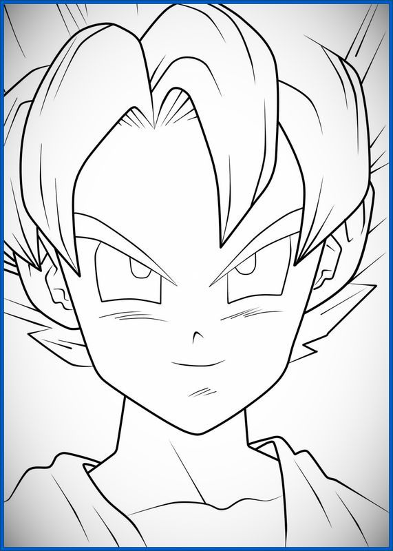 Resultado de imagen para dibujos faciles | GOKU | Dibujos ...