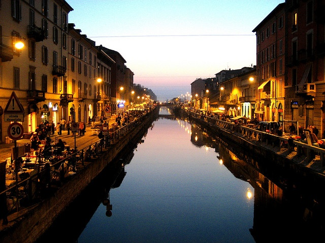 The Navigli (canals) of Milano.  I can't wait to have dinner along the Navigli!
