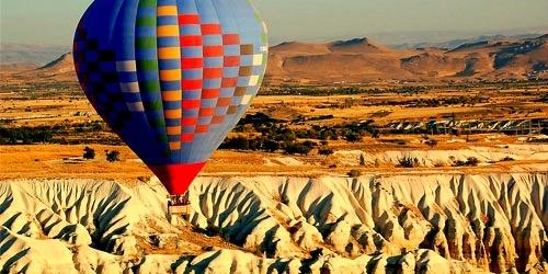 Kapadokya'da uçmak.