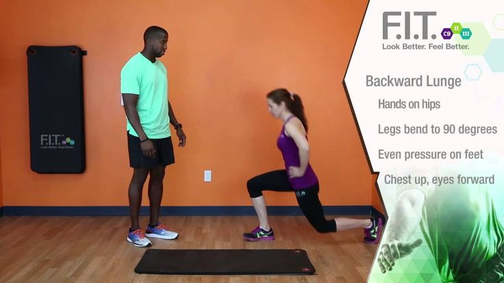F.I.T. Exercises - Backward Lunge  http://myforeverfit.flp.com